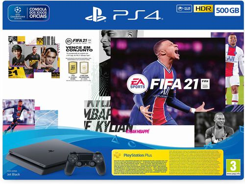 CONSOLA PS4 500GB + FIFA 21 image number 0