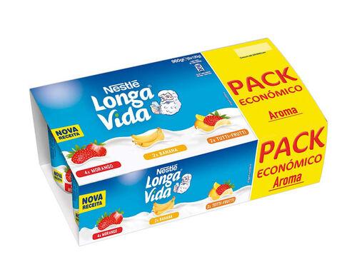 IOGURTE AROMA LONGA VIDA PACK ECON. 3 SABORES 8X120G image number 0