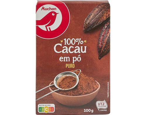CACAU AUCHAN EM PÓ PURO 100G image number 0