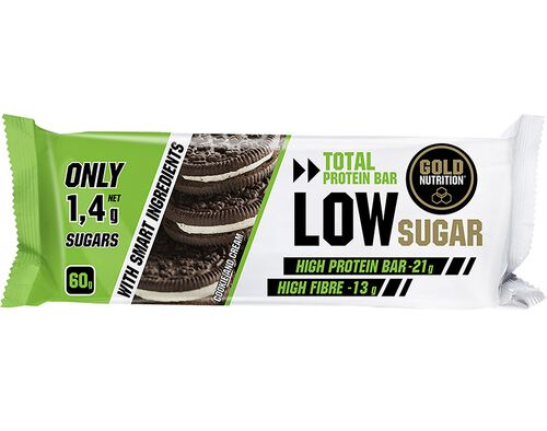 BARRA GOLDNUTRITION LOW SUGAR COOKIE AND CREAM 60G image number 0