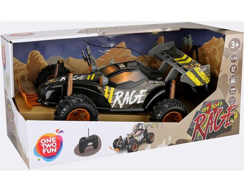 CARRO BUGGY ONE TWO FUN RAGE 36CM image number 0