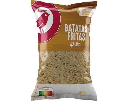 BATATAS AUCHAN FRITAS PALHA 160G image number 0