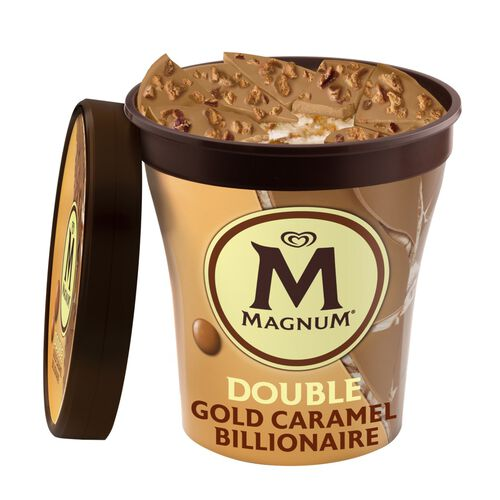 GELADO PINT MAGNUM DOUBLE GOLD CARAMEL 440ML image number 0