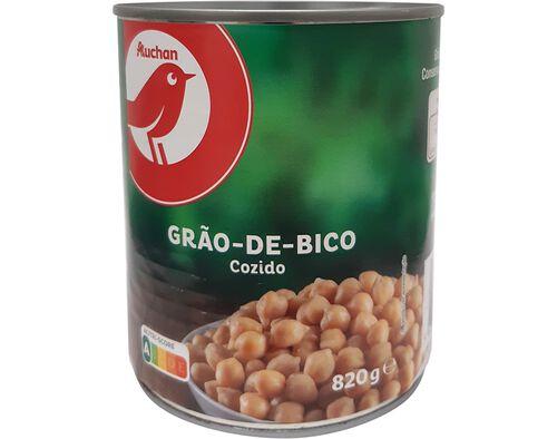 GRÃO COZIDO AUCHAN 820 G image number 0