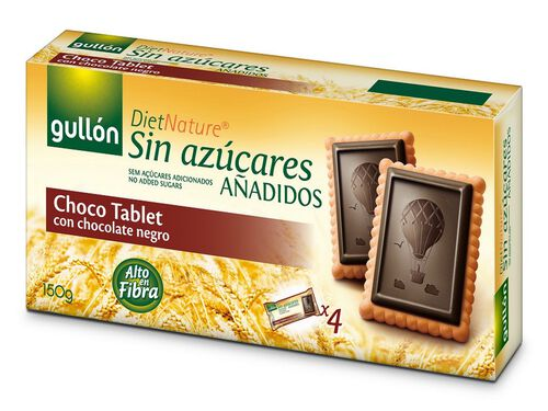 BOLACHA GULLON CHOCOLATE TABLET DIET NATURE SEM AÇÚCAR ADICIONADO 150G image number 0