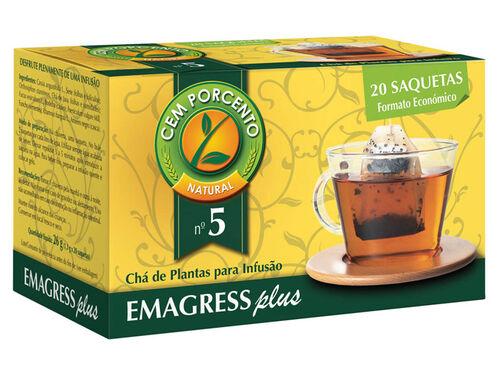CHÁ CEM PORCENTO Nº5 EMAGRESS PLUS 20 SAQ image number 0