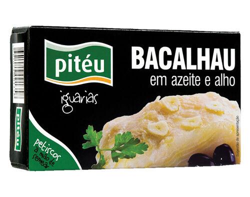BACALHAU PITÉU EM AZEITE E ALHO 120G image number 0