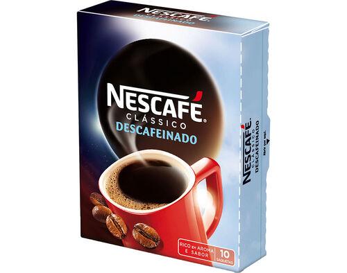 CAFÉ NESCAFÉ SOLÚVEL SEM CAFEÍNA 10X2G image number 0