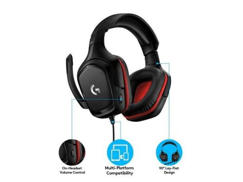 AUSCULTADORES GAMING LOGITECH C/MICRO G332 image number 5