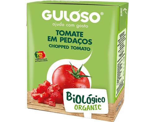 TOMATE EM PEDAÇOS GULOSO BIOLOGICO 390G image number 0