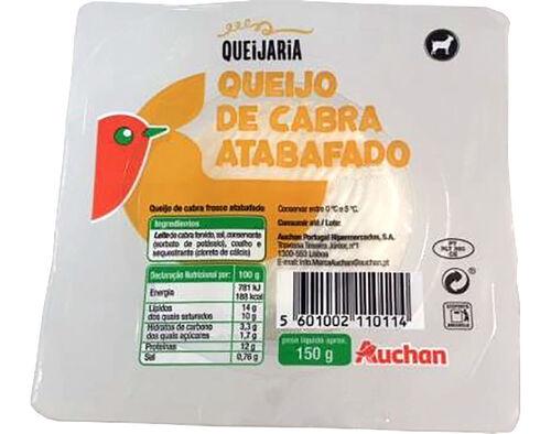 QUEIJO AUCHAN FRESCO CABRA ATABAFADO 150G image number 0