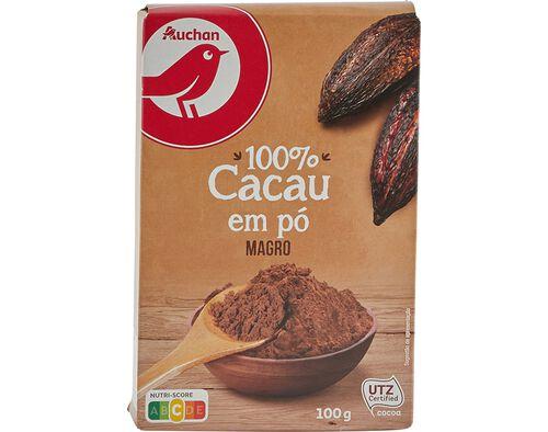 CACAU AUCHAN EM PÓ MAGRO 100G image number 0