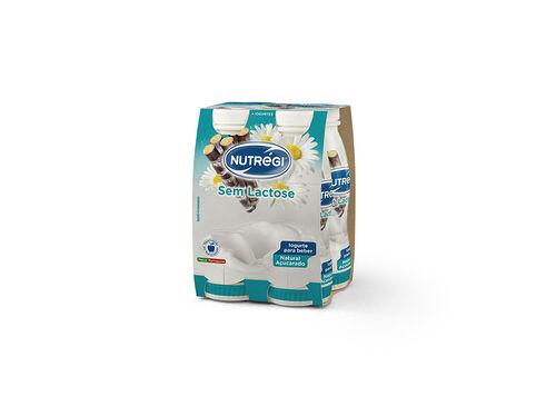 IOGURTE S/LACTOSE NUTRÉGI LÍQ. NATURAL AÇUCARADO 4X170G image number 0