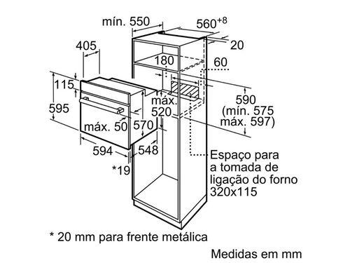 FORNO MULTIFUNÇÕES BALAY 3HB2010X0 A 66L INOX image number 7