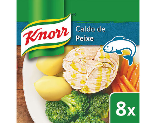 CALDO KNORR PEIXE 8 CUBOS 80G image number 0