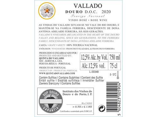 VINHO ROSÉ QUINTA DO VALLADO TOURIGA NACIONAL 0.75L. image number 2