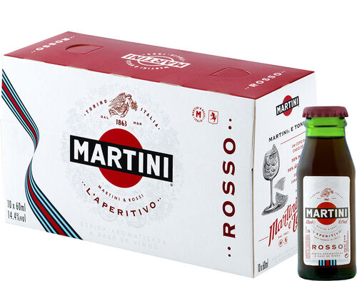VERMOUTE MARTINI ROSSO PACK 10 X 0.06L image number 0
