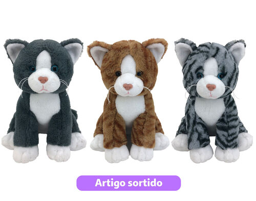 GATO EM PELUCHE ONE TWO FUN 26CM image number 0