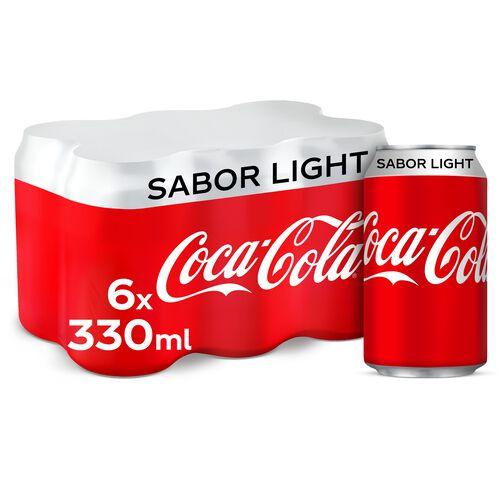 REFRIGERANTE COCA-COLA COM GÁS SABOR LIGHT LATA 6X0.33L image number 0