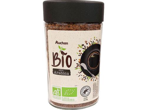 CAFÉ SOLÚVEL AUCHAN BIO LIOFILIZADO INT.6 100G image number 0
