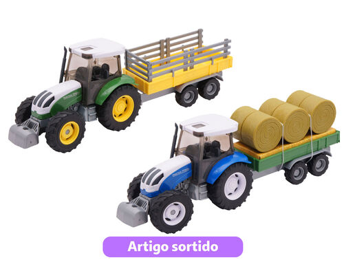 TRACTOR C/REBOQUE ONE TWO FUN 1:32 image number 0
