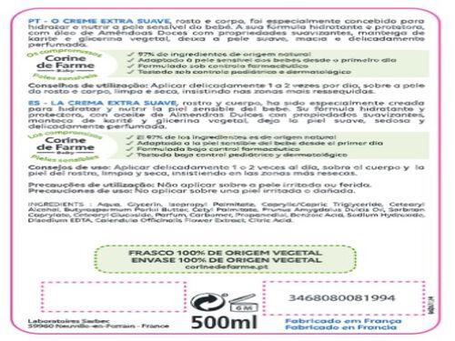 CREME CORINE DE FARME EXTRA SUAVE ROSTO CORPO 500ML image number 1