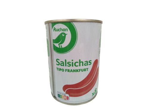 SALSICHAS AUCHAN ESSENCIAL TIPO FRANKFURT LATA 8UN 200G image number 0