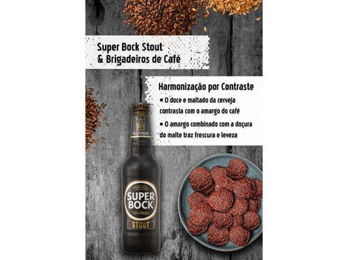 CERVEJA PRETA SUPER BOCK STOUT MINI 6X0.20 L
