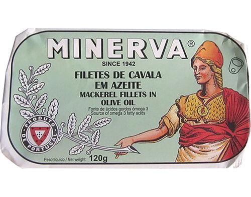 FILETES DE CAVALA MINERVA EM AZEITE 120G image number 0