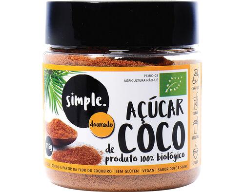 AÇÚCAR DE COCO DOURADO SIMPLE BIO 115 G image number 0