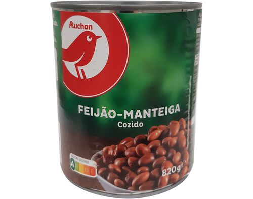 FEIJÃO MANTEIGA AUCHAN COZIDO 820 G image number 0