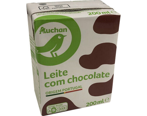 LEITE AUCHAN ESSENCIAL COM CHOCOLATE 200ML image number 0