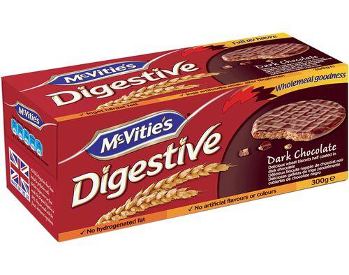 BOLACHA MCVITIE'S DIGESTIVE CHOCOLATE NEGRO 300G image number 0