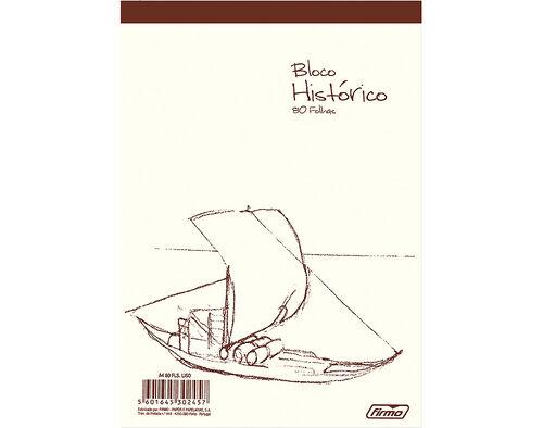 BLOCO HISTORICO FIRMO PAUTADO A5 60/80 FLS image number 0