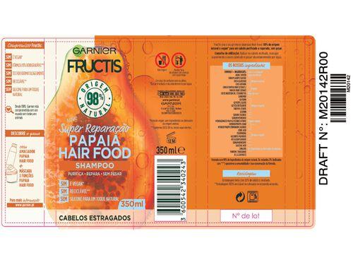 CHAMPÔ FRUCTIS HAIR FOOD PAPAIA 350ML image number 1