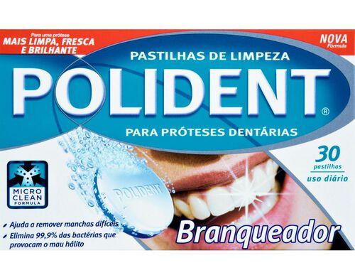PASTILHAS PRÓTESES POLIDENT BRANQUEADORA 30 UN image number 0