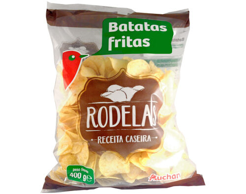 BATATAS FRITAS AUCHAN RODELAS 400G image number 0