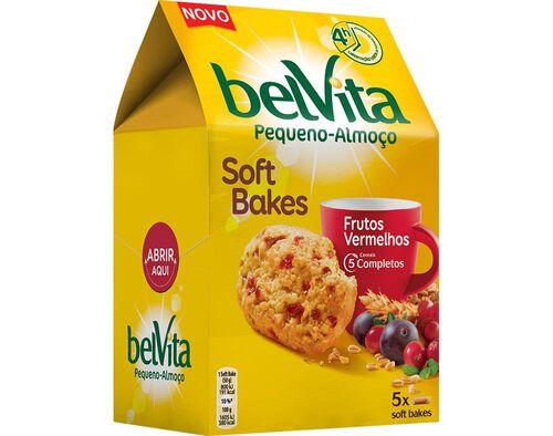 BOLACHA BELVITA SOFT BAKES FRUTOS VERMELHOS 250G image number 0