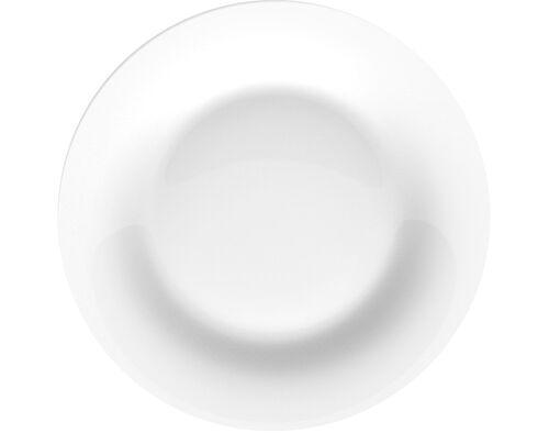 PRATO DE SOBREMESA AUCHAN ESSENCIAL VIDRO BRANCO 19.6CM image number 0