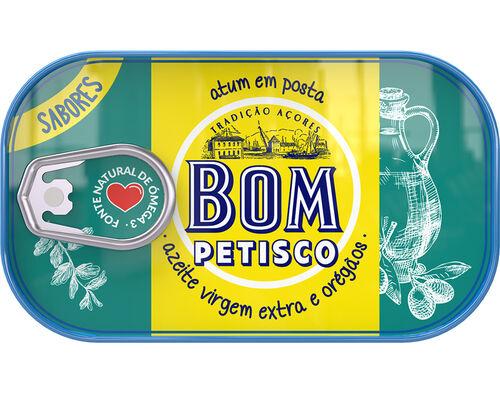 ATUM BOM PETISCO POSTA AZEITE VIRGEM E OREGÃOS 120G image number 0