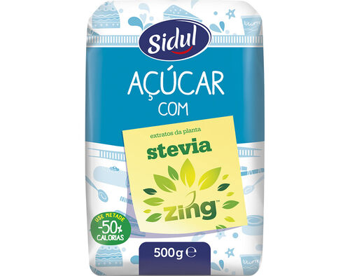 AÇÚCAR SIDUL BRANCO COM STEVIA 500G image number 0