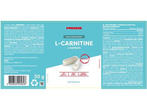 SUPLEMENTO PROZIS L-CARNITINA 1500MG 60 CAPS image number 1