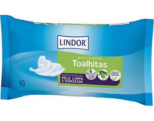 TOALHITAS LINDOR DERMO INCONTINÊNCIA 40UN image number 0