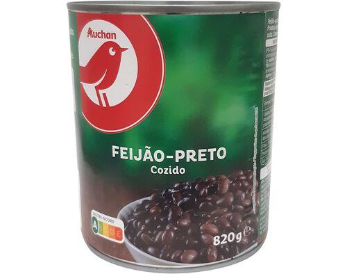 FEIJÃO AUCHAN PRETO COZIDO 820G image number 0