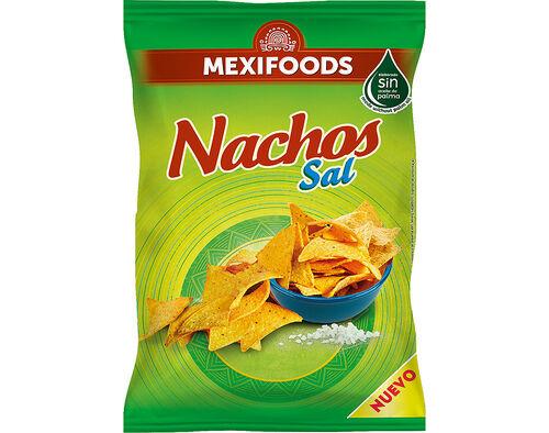 APERITIVO MEXIFOODS DE MILHO NACHOS SAL 200G image number 0