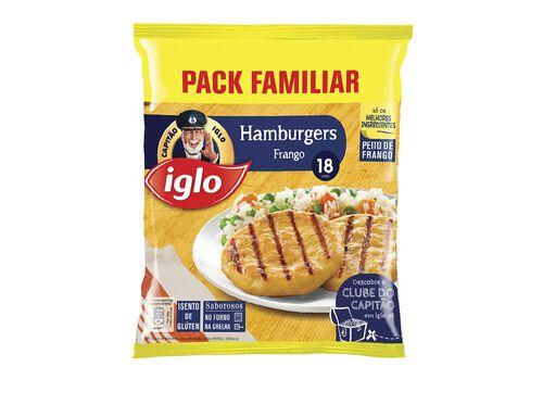 HAMBURGERS IGLO FRANGO S/ GLUTEN 18 UN 1080G image number 0