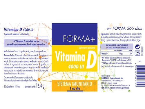 SUPLEMENTO FORMA+ VITAMINA D 30 CAPS image number 1