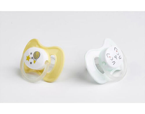 PACK 2 CHUCHAS AUCHAN BABY SILICONE P.REVERS 6/18M image number 0