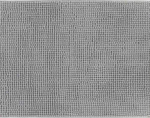 TAPETE DE CASA DE BANHO ACTUEL CINZENTO MICROFIBRA 50X70CM image number 0