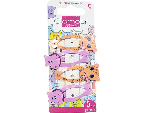 GANCHO GLAMOUR MADEMOISELLE CLIC CLAC FANTASIA 4UN image number 0